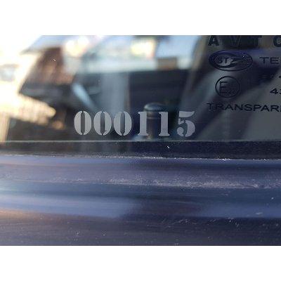 Противоугонная маркировка стекол из 6 знаков