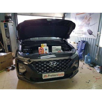 Установка сигнализации StarLine S96 с автозапуском на Hyundai SantaFe 2020г. и реализация комплексной защиты от угона